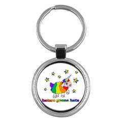 Unicorn Sheep Key Chains (round)  by Valentinaart