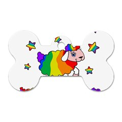 Unicorn Sheep Dog Tag Bone (two Sides) by Valentinaart