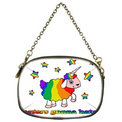 Unicorn Sheep Chain Purses (one Side)  by Valentinaart
