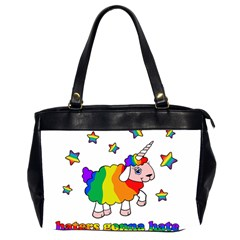 Unicorn Sheep Office Handbags (2 Sides)  by Valentinaart