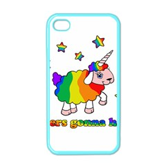 Unicorn Sheep Apple Iphone 4 Case (color) by Valentinaart