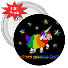 Unicorn Sheep 3  Buttons (100 Pack)  by Valentinaart