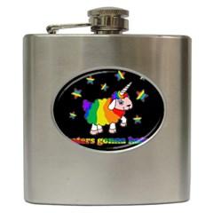 Unicorn Sheep Hip Flask (6 Oz) by Valentinaart