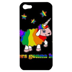 Unicorn Sheep Apple Iphone 5 Hardshell Case by Valentinaart