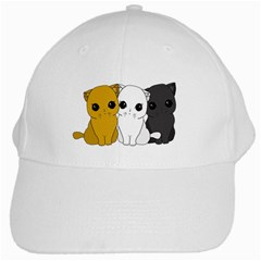 Cute Cats White Cap by Valentinaart