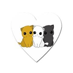 Cute Cats Heart Magnet by Valentinaart
