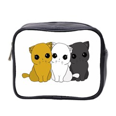 Cute Cats Mini Toiletries Bag 2 Side by Valentinaart
