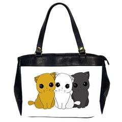 Cute Cats Office Handbags (2 Sides)  by Valentinaart