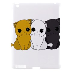 Cute Cats Apple Ipad 3/4 Hardshell Case (compatible With Smart Cover) by Valentinaart