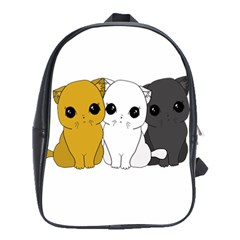 Cute Cats School Bag (xl) by Valentinaart