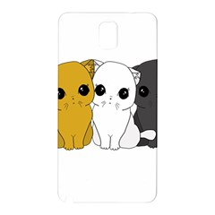 Cute Cats Samsung Galaxy Note 3 N9005 Hardshell Back Case by Valentinaart