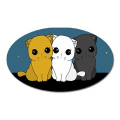 Cute Cats Oval Magnet by Valentinaart