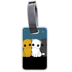 Cute Cats Luggage Tags (one Side)  by Valentinaart