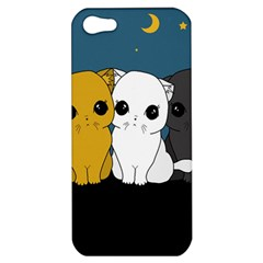 Cute Cats Apple Iphone 5 Hardshell Case by Valentinaart