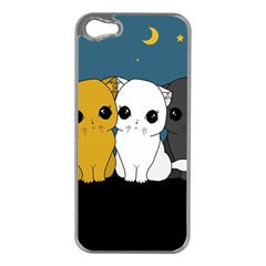 Cute Cats Apple Iphone 5 Case (silver) by Valentinaart