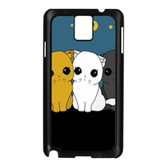 Cute Cats Samsung Galaxy Note 3 N9005 Case (black) by Valentinaart