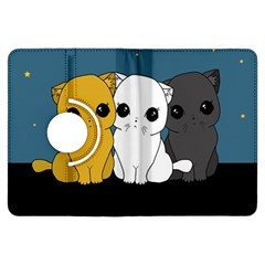 Cute Cats Kindle Fire Hdx Flip 360 Case by Valentinaart