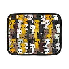 Cute Cats Pattern Netbook Case (small)  by Valentinaart