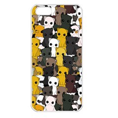 Cute Cats Pattern Apple Iphone 5 Seamless Case (white) by Valentinaart