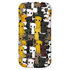 Cute Cats Pattern Samsung Galaxy S3 S Iii Classic Hardshell Back Case by Valentinaart