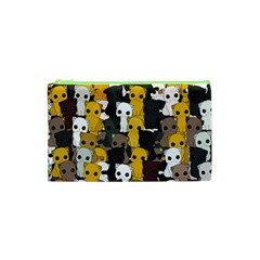 Cute Cats Pattern Cosmetic Bag (xs) by Valentinaart