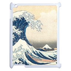 The Classic Japanese Great Wave Off Kanagawa By Hokusai Apple Ipad 2 Case (white) by PodArtist