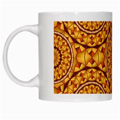 Golden Mandalas Pattern White Mugs by linceazul