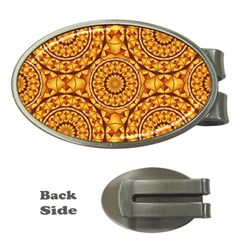 Golden Mandalas Pattern Money Clips (oval)  by linceazul