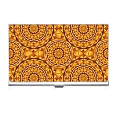 Golden Mandalas Pattern Business Card Holders by linceazul