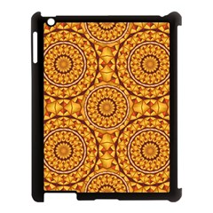 Golden Mandalas Pattern Apple Ipad 3/4 Case (black) by linceazul