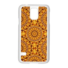 Golden Mandalas Pattern Samsung Galaxy S5 Case (white) by linceazul