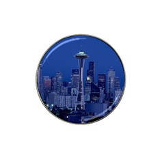 Space Needle Seattle Washington Hat Clip Ball Marker (4 Pack) by Nexatart