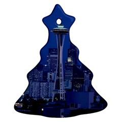 Space Needle Seattle Washington Ornament (christmas Tree)  by Nexatart