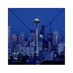 Space Needle Seattle Washington Acrylic Tangram Puzzle (6  X 6 ) by Nexatart