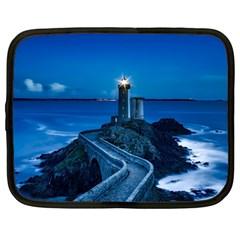 Plouzane France Lighthouse Landmark Netbook Case (large) by Nexatart