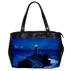 Plouzane France Lighthouse Landmark Office Handbags by Nexatart