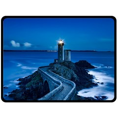 Plouzane France Lighthouse Landmark Double Sided Fleece Blanket (large)  by Nexatart