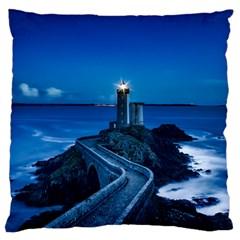 Plouzane France Lighthouse Landmark Standard Flano Cushion Case (two Sides) by Nexatart