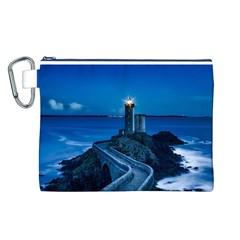 Plouzane France Lighthouse Landmark Canvas Cosmetic Bag (l) by Nexatart