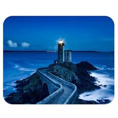 Plouzane France Lighthouse Landmark Double Sided Flano Blanket (medium)