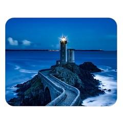 Plouzane France Lighthouse Landmark Double Sided Flano Blanket (large)  by Nexatart
