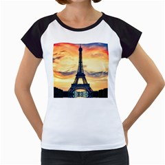 Eiffel Tower Paris France Landmark Women s Cap Sleeve T by Nexatart
