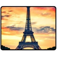 Eiffel Tower Paris France Landmark Double Sided Fleece Blanket (medium)  by Nexatart