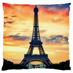 Eiffel Tower Paris France Landmark Standard Flano Cushion Case (two Sides) by Nexatart