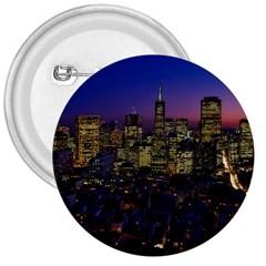 San Francisco California City Urban 3  Buttons by Nexatart
