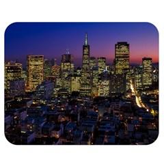 San Francisco California City Urban Double Sided Flano Blanket (medium)  by Nexatart