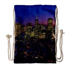 San Francisco California City Urban Drawstring Bag (large) by Nexatart