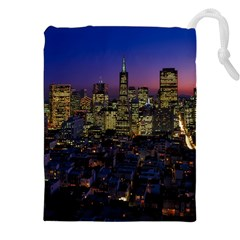 San Francisco California City Urban Drawstring Pouches (xxl) by Nexatart