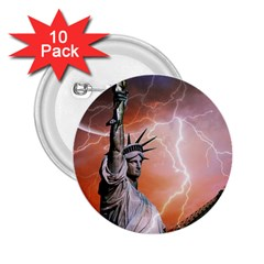 Statue Of Liberty New York 2 25  Buttons (10 Pack)  by Nexatart