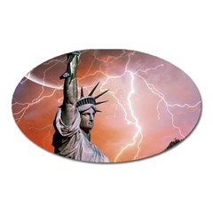 Statue Of Liberty New York Oval Magnet by Nexatart